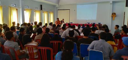 PPS Desa Tajun Gelar Bintek untuk KPPS Pilgub Bali 2018