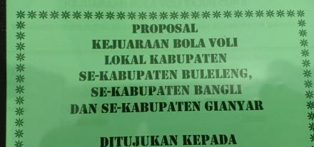 Tajun Cup Ii Panitia Mulai Sebar Proposal Sponsor Dan Surat Undangan Tim Website Desa Tajun