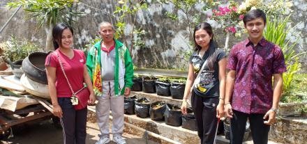 Dinas Ketahanan Pangan Tinjau Program Penumbuhan Rumah Pangan Lestari di Desa Tajun