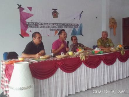 Pelatihan Manajemen BUMDesa Sumerta Kaja di Desa Tajun