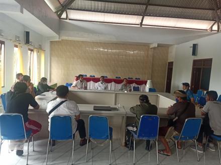 BPD dan Pemerintah Desa Sepakati Penerima BLT Dana Desa Tahun 2021