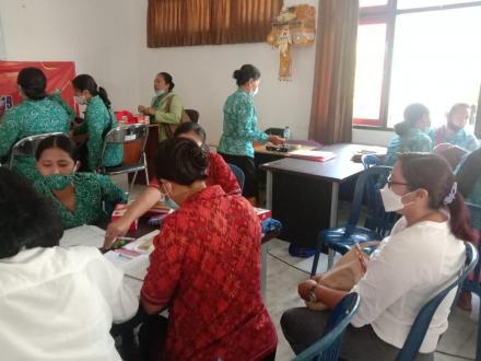 PKK Desa Tajun Ikuti Pelatihan Pembinaan Administrasi Di Kantor Camat Kubutamabahan