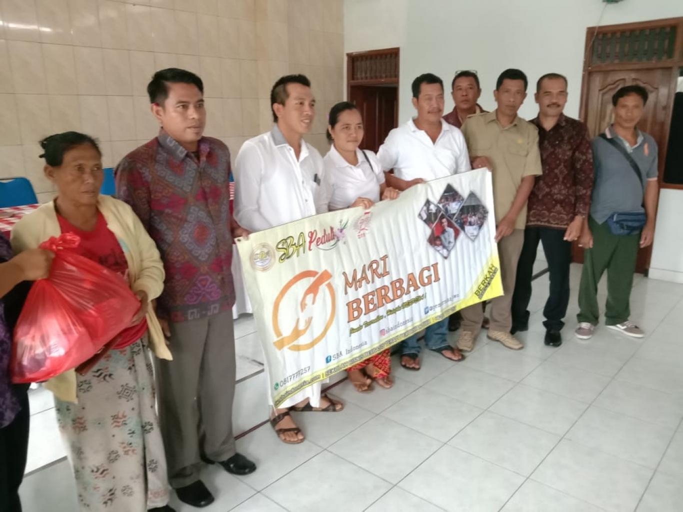 Yayasan Sba Indonesia Berikan Bantuan Sembako Kepada 50 Lansia Kurang Mampu Website Desa Tajun